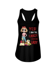 I Am The Crazy Librarian Lady Book Lovers Gift Ladies Flowy Tank thumbnail
