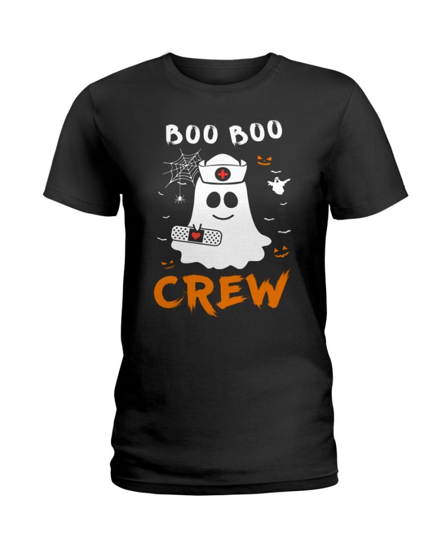 Boo Boo Crew Nurse Ghost Funny Halloween Ladies T-Shirt