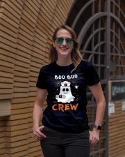 Boo Boo Crew Nurse Ghost Funny Halloween Ladies T-Shirt lifestyle-women-crewneck-front-2