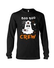 Boo Boo Crew Nurse Ghost Funny Halloween Long Sleeve Tee thumbnail