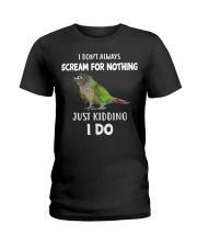 Green Cheek Conure T Shirt  I Scream Conure Shirt Ladies T-Shirt thumbnail