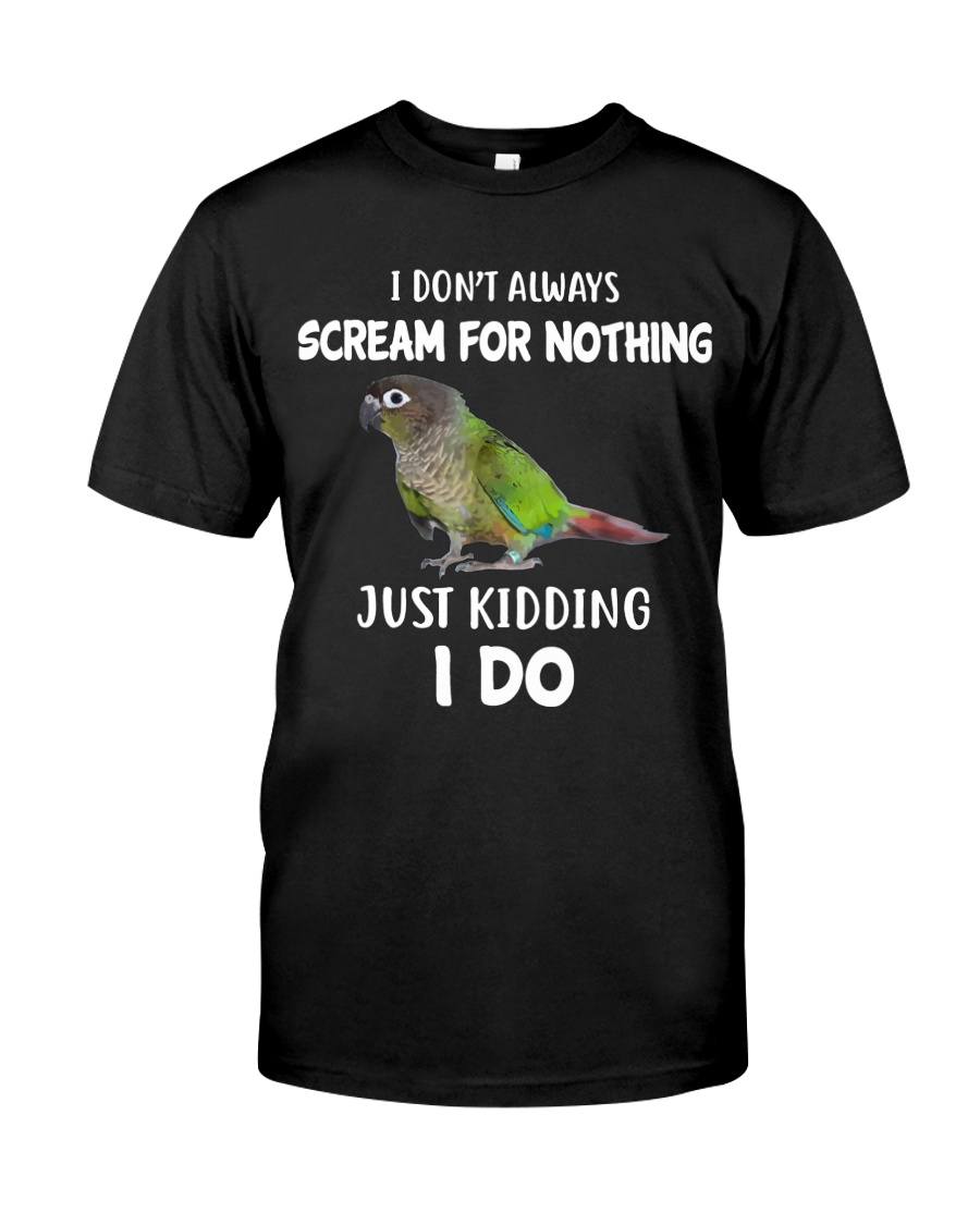 Green Cheek Conure T Shirt  I Scream Conure Shirt Classic T-Shirt