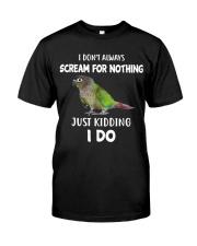 Green Cheek Conure T Shirt  I Scream Conure Shirt Classic T-Shirt front