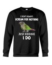 Green Cheek Conure T Shirt  I Scream Conure Shirt Crewneck Sweatshirt thumbnail