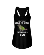 Green Cheek Conure T Shirt  I Scream Conure Shirt Ladies Flowy Tank thumbnail