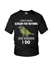 Green Cheek Conure T Shirt  I Scream Conure Shirt Youth T-Shirt thumbnail
