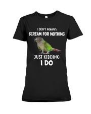 Green Cheek Conure T Shirt  I Scream Conure Shirt Premium Fit Ladies Tee thumbnail