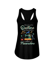 Blessed Are The Quilters Shall Called Piecemakers Ladies Flowy Tank thumbnail