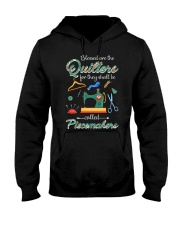 Blessed Are The Quilters Shall Called Piecemakers Hooded Sweatshirt thumbnail