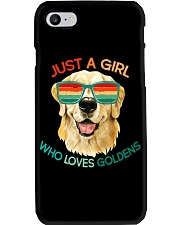 Girl Who Loves Golden Retrievers Dog Gifts Phone Case thumbnail