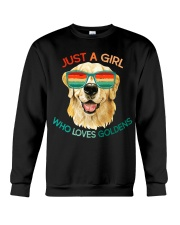 Girl Who Loves Golden Retrievers Dog Gifts Crewneck Sweatshirt thumbnail