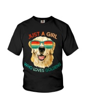 Girl Who Loves Golden Retrievers Dog Gifts Youth T-Shirt thumbnail