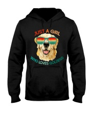 Girl Who Loves Golden Retrievers Dog Gifts Hooded Sweatshirt thumbnail