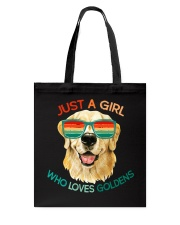 Girl Who Loves Golden Retrievers Dog Gifts Tote Bag thumbnail