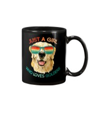 Girl Who Loves Golden Retrievers Dog Gifts Mug thumbnail