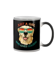 Girl Who Loves Golden Retrievers Dog Gifts Color Changing Mug thumbnail