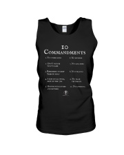 10 Commandments Bible Verse Scripture TShirt Unisex Tank tile