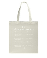 10 Commandments Bible Verse Scripture TShirt Tote Bag thumbnail