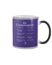 10 Commandments Bible Verse Scripture TShirt Color Changing Mug thumbnail