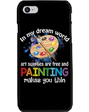 In My Dream World Art Supplies Are And Painting Phone Case thumbnail
