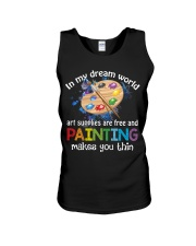 In My Dream World Art Supplies Are And Painting Unisex Tank thumbnail