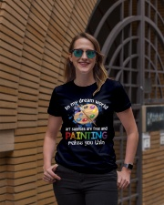 In My Dream World Art Supplies Are And Painting Ladies T-Shirt lifestyle-women-crewneck-front-2