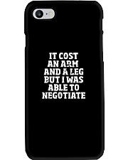Amputee TShirt Able To Negotiate Funny Leg Amputee Phone Case thumbnail