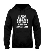Amputee TShirt Able To Negotiate Funny Leg Amputee Hooded Sweatshirt thumbnail