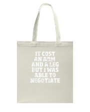 Amputee TShirt Able To Negotiate Funny Leg Amputee Tote Bag thumbnail
