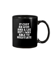 Amputee TShirt Able To Negotiate Funny Leg Amputee Mug tile