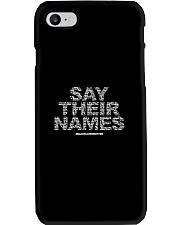 Black Lives Matter Say Their Names TShirt Phone Case thumbnail