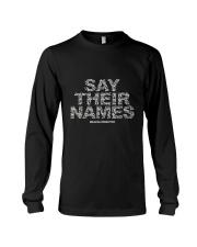 Black Lives Matter Say Their Names TShirt Long Sleeve Tee thumbnail