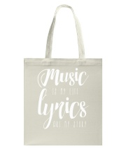 Music is my Life Lyrics are my Story Love Epic Tote Bag thumbnail