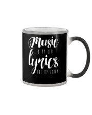Music is my Life Lyrics are my Story Love Epic Color Changing Mug thumbnail