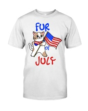 Fur Of July Happy 4th of Juky Celebration meowica Classic T-Shirt thumbnail
