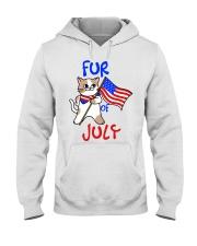Fur Of July Happy 4th of Juky Celebration meowica Hooded Sweatshirt thumbnail