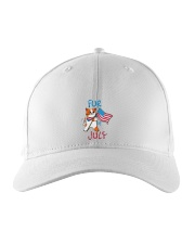 Fur Of July Happy 4th of Juky Celebration meowica Embroidered Hat thumbnail