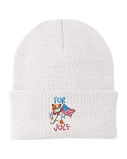 Fur Of July Happy 4th of Juky Celebration meowica Knit Beanie thumbnail