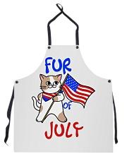 Fur Of July Happy 4th of Juky Celebration meowica Apron thumbnail