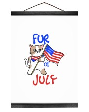 Fur Of July Happy 4th of Juky Celebration meowica 12x16 Black Hanging Canvas thumbnail