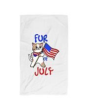 Fur Of July Happy 4th of Juky Celebration meowica Hand Towel thumbnail