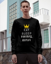 eat sleep football repeat Long Sleeve Tee apparel-long-sleeve-tee-lifestyle-03