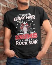 PLAY DRUMS LIKE A ROCK STAR Classic T-Shirt apparel-classic-tshirt-lifestyle-26