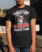 PLAY DRUMS LIKE A ROCK STAR Classic T-Shirt apparel-classic-tshirt-lifestyle-29