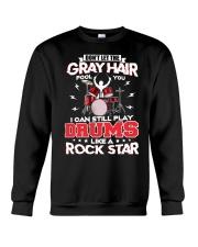 PLAY DRUMS LIKE A ROCK STAR Crewneck Sweatshirt thumbnail