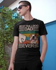 BEST BULLDOG DAD EVER Classic T-Shirt apparel-classic-tshirt-lifestyle-17