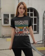 BEST BULLDOG DAD EVER Classic T-Shirt apparel-classic-tshirt-lifestyle-19