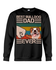 BEST BULLDOG DAD EVER Crewneck Sweatshirt thumbnail