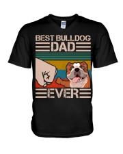 BEST BULLDOG DAD EVER V-Neck T-Shirt thumbnail