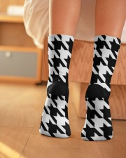 Large houndstooth pattern Crew Length Socks aos-accessory-crew-length-socks-lifestyle-back-01
